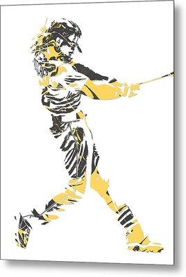 Andrew Mccutchen Pittsburgh Pirates Pixel Art 2 Metal Print