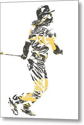 Andrew Mccutchen Pittsburgh Pirates Pixel Art 4 Metal Print
