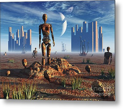 Android Fossils Preserved Metal Print by Mark Stevenson