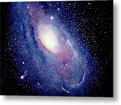 Metal Print featuring the painting Andromeda Galaxy by Allison Ashton