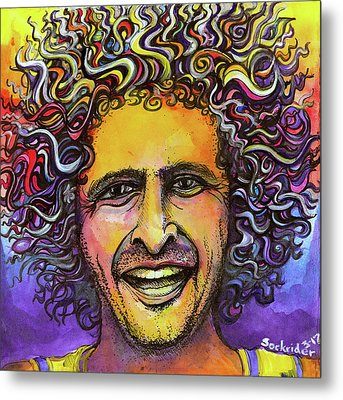 Metal Print featuring the painting Andy Frasco by David Sockrider