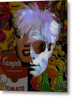 Andy Warhol Collectioin Metal Print by Marvin Blaine