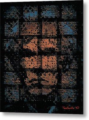 Andy Warhol Weave   Series   Metal Print by Teodoro De La Santa