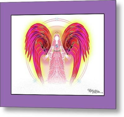 Metal Print featuring the digital art Angel #199 by Barbara Tristan