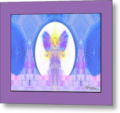 Metal Print featuring the digital art Angel #200 by Barbara Tristan