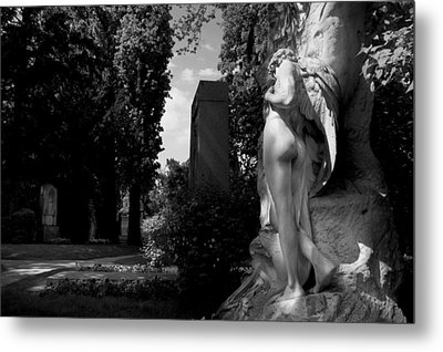 Angel At The Grave Metal Print by Marc Huebner
