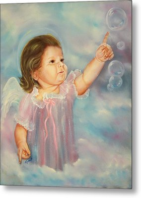 Metal Print featuring the painting Angel Baby by Joni McPherson