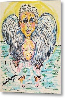 Angel Bath Metal Print by Geraldine Myszenski