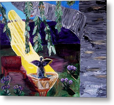 Angel Called Home Metal Print by Karen L Christophersen