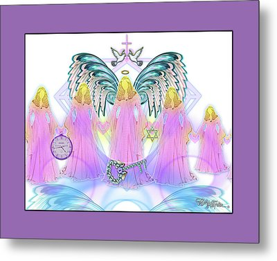 Metal Print featuring the digital art Angel Cousins #198 by Barbara Tristan