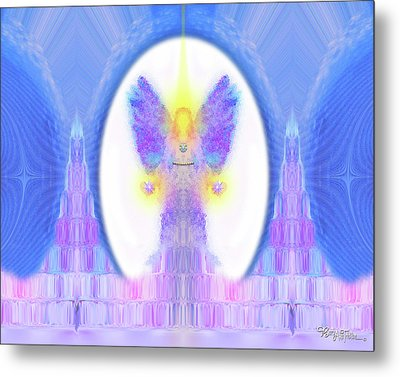 Angel Crystals 444 Metal Print by Barbara Tristan