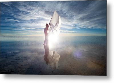 Metal Print featuring the photograph Angel by Dario Infini