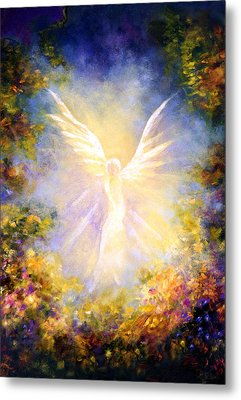 Angel Descending Metal Print by Marina Petro