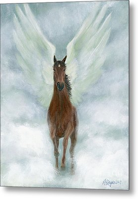 Angel Horse Running Free Across The Heavens Metal Print