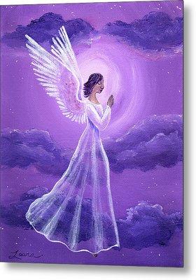 Angel In Amethyst Moonlight Metal Print by Laura Iverson