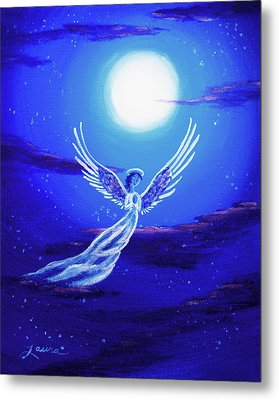 Angel In Blue Starlight Metal Print by Laura Iverson