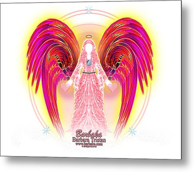 Metal Print featuring the digital art Angel Intentions Divine Timing by Barbara Tristan