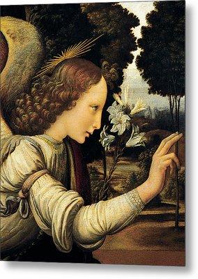 Angel Metal Print by Leonardo Da Vinci