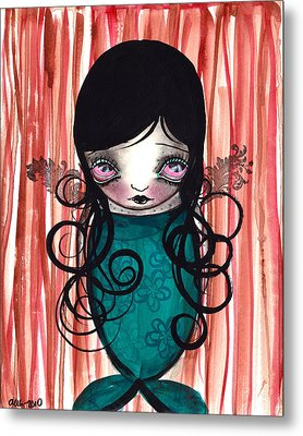 Angel Mermaid Metal Print by  Abril Andrade Griffith