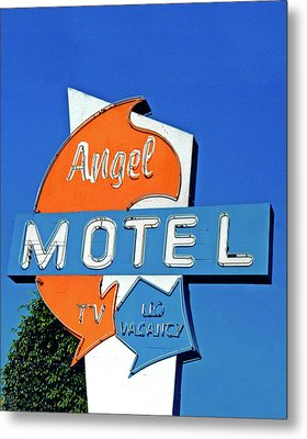 Metal Print featuring the photograph Angel Motel by Matthew Bamberg