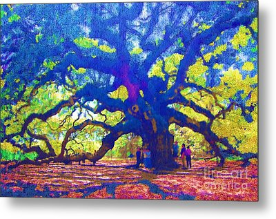 Metal Print featuring the photograph Angel Oak Tree by Donna Bentley