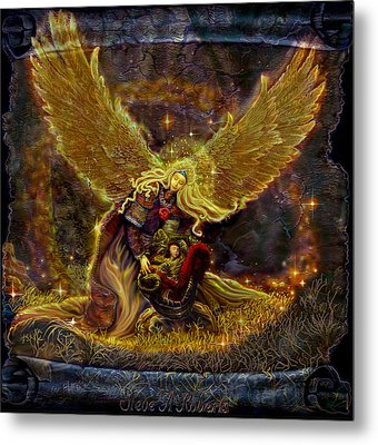 Metal Print featuring the painting Angel Of Light by Steve Roberts
