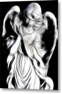 Metal Print featuring the digital art Angel Of Mercy by Holly Ethan