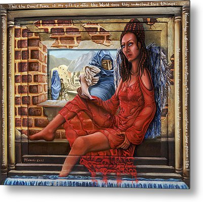 Angel Of Peace Metal Print by Karen Musick