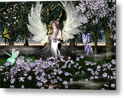 Angel Of Thankfulness Metal Print by Eva Thomas