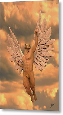 Angel Of The Oranges Metal Print by Joaquin Abella