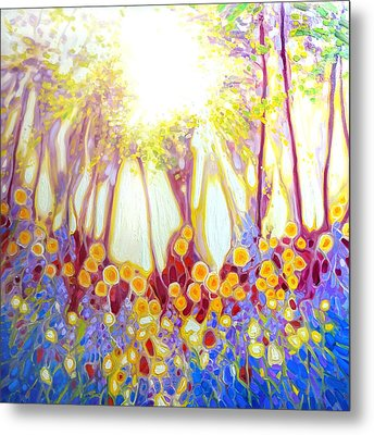 Angel Of The Spring Wood- Abstract Landscape Metal Print