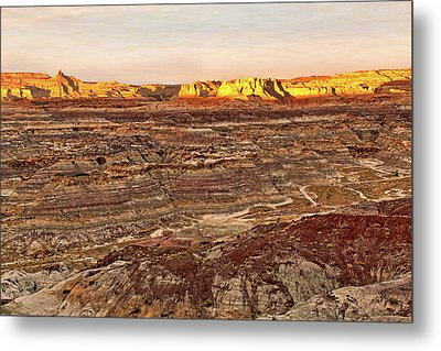 Metal Print featuring the photograph Angel Peak Badlands - New Mexico - Landscape by Jason Politte