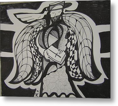Angel Receiving Prayer Metal Print by Jimmy King