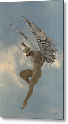 Angel That Watches Metal Print by Joaquin Abella