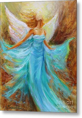 Metal Print featuring the painting Angelic Rising by Jennifer Beaudet
