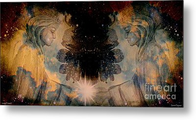 Angels Administering Spiritual Gifts Metal Print by Leanne Seymour