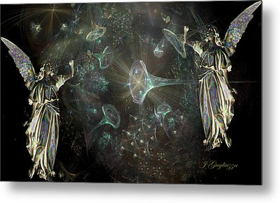 Angels And Trumpets Metal Print by Jean Gugliuzza
