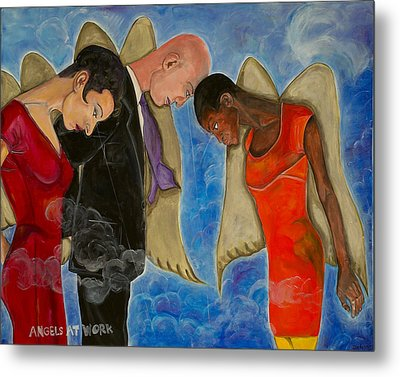 Angels At Work Metal Print