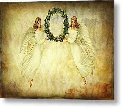 Angels Christmas Card Or Print Metal Print by Bellesouth Studio