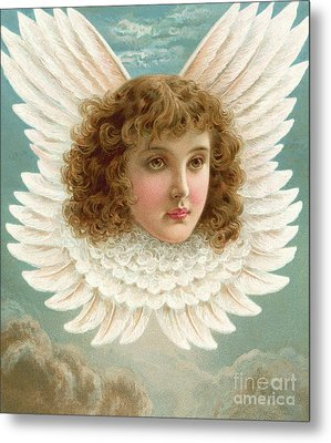 Angel's Head In Wings  Metal Print