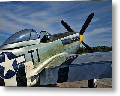 Angels Playmate P-51 Metal Print by Steven Richardson