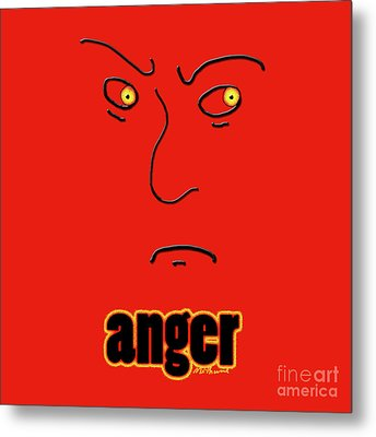 Anger Metal Print by Methune Hively