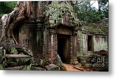 Metal Print featuring the photograph Angkor Wat by Louise Fahy
