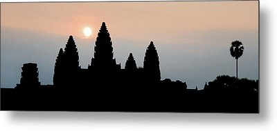 Angkor Wat Sunrise Metal Print by Dave Bowman