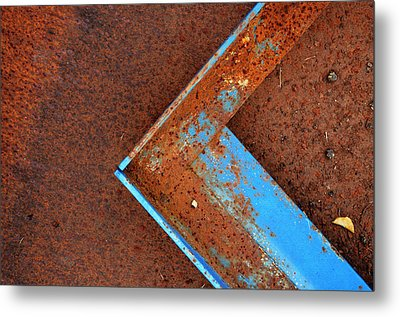 Angle Iron...raw Steel Metal Print by Tom Druin