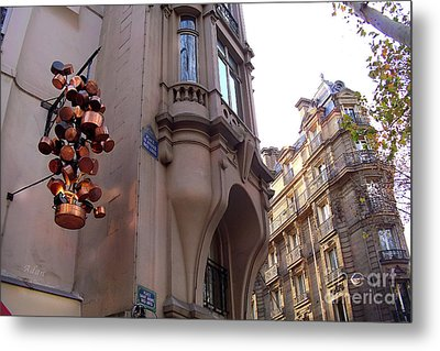 Angles And Details At Place Saint Andre Des Arts Metal Print