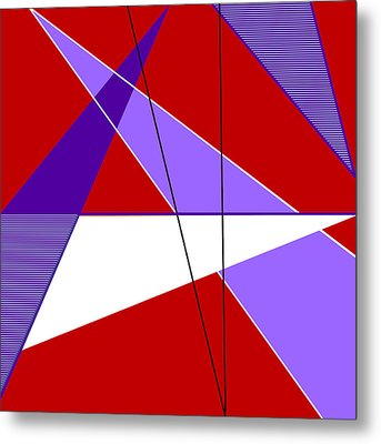 Angles And Triangles Metal Print by Tara Hutton