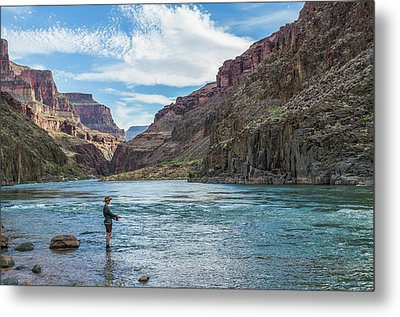Angling On The Colorado Metal Print by Alan Toepfer