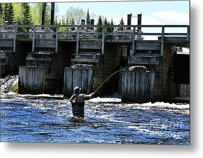 Angling Metal Print by Skip Willits