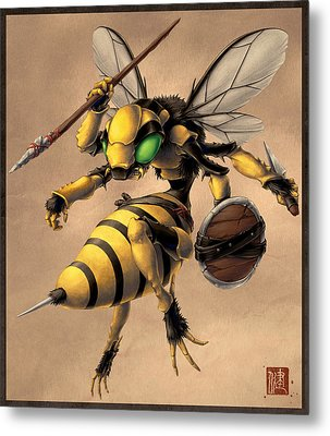 Angry Bee Metal Print by James Ng